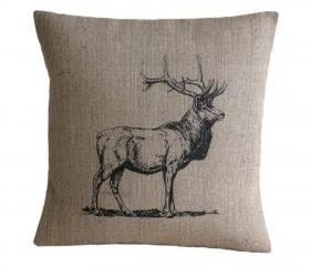 Vintage Stag Deer Pillow Cover 