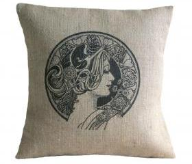 Art Nouveau Pillow Cover