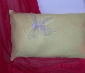 Decorative cover for pillows 'magical butterfly' - 20 x 12 inch