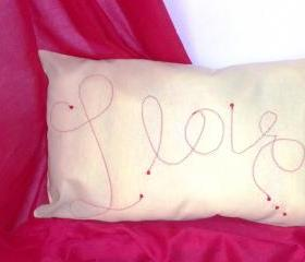 "Decorative cover for pillows ""I love.."" - 20 x 12 inch"