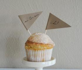 Wedding Cupcake Pennants