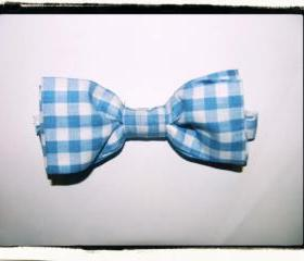 Checkered Bow tie - Blue & White