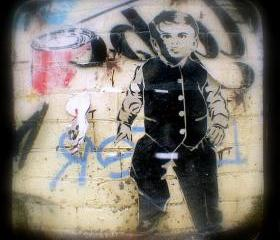 Graffiti Photo 5x5 Street Art TtV Photography Print - Home Decor Urban Photograph