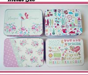 Cute Storage Box/ Tin Box/ Make Up case/ Candy Box/ Case/ Wedding Gift