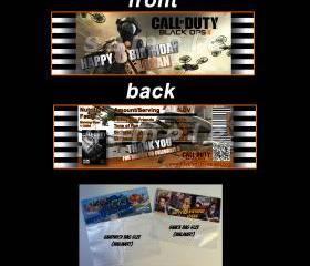 Call of Duty Black Ops 2 Set of 12 Goodie Bag Toppers