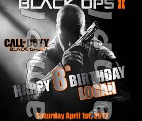 Call of Duty Black Ops 2 - 4x6 Personalized Birthday Party Invitations