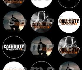 Call of Duty Black Ops 2 Set of 12 2.5-Inch Round Personalized Stickers or Seals