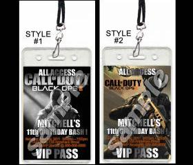 Call of Duty Black Ops 2 Set of 12 VIP Party Invitation Passes or Party Favors