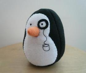 penguin plush animal stuffed fleece plushie - Reginald P. Flapsworthy