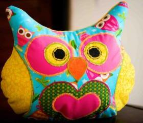 Lola Hoodie Owl Pillow