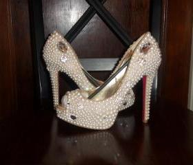 Crystal & Pearl Wedding Shoes