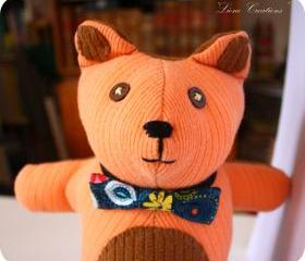 Autumn Pumpkin orange/brown Hug Bear soft toy **