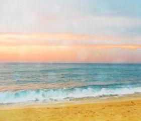 Sunset Beach Photograph Art Print