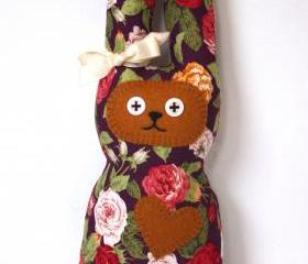 Vintage flower bunny soft toy