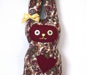Paisley printed bunny soft toy