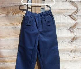 Boys navy pocket trousers