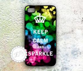 Keep Calm and Sparkle iphone in case Hard Plastic Cover