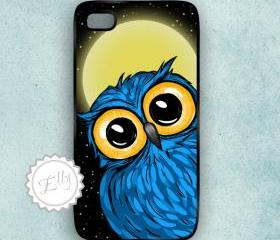 Blue Owl iphone 4S / 4 case Hard plastic covers cell phone cover