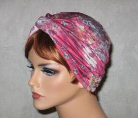 Handmade Twist Fashion Turban -Red Multicolored Paisley