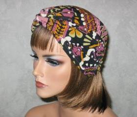 Handmade Twist Fashion Turban -Gold,Brick, Multicolored Celebration