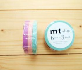 Japanese Masking Tape, Slim type, Fountain Sakura Peony