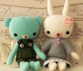 Pocket Teddy and Bunny pdf Pattern