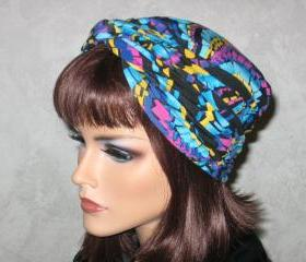 Handmade Twist Fashion Turban -Turquoise, Yellow, Multicolored Fiesta