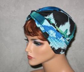 Handmade Twist Fashion Turban -Blue, Green, Multicolored Southwest