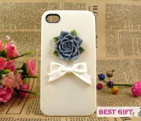 Unique resin roses iPhone case, iPhone 4 covers, simple lovely iPhone 4 case