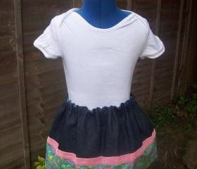 Girls denim and cotton skirt