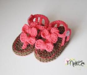 Baby Crochet Bow Sandals