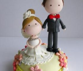 Wedding Clay Cake Topper (Not Edible)