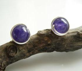 Dark Amethyst 925 Stud