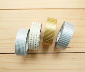 Japanese Masking Tape, GOLD & SILVER set