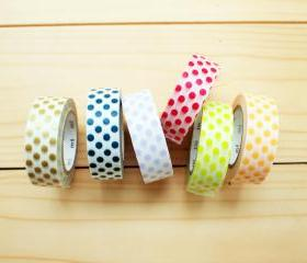 Japanese Masking Tape, Polka dot set