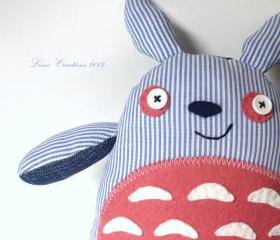 Sailor Totoro soft toy: blue/ white/ pink **