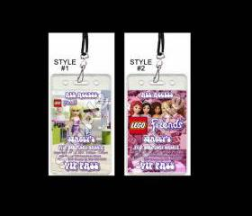 Lego Friends Set of 12 VIP Party Invitation Passes or Party Favors