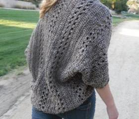 Shrug Cardigan Shawl w/Sleeves Easy/Beginner CROCHET PDF PATTERN