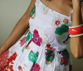 Short Smocked Dress - Floral summer dress