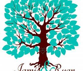 Custom Wedding Signature Tree 16x20 holds 75 signatures, guestbook alternative, anniversay gift,