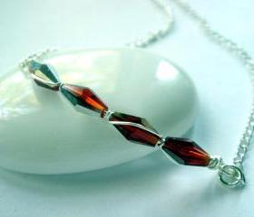 Electric Red Sterling Silver Necklace