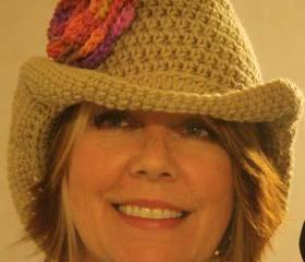 'Big Girl' crochet Cowboy hat