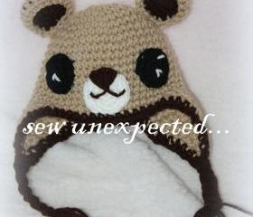 Crochet Teddy Bear hat