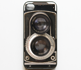 iPhone 4 Case Retro Twin Reflex Camera - Black Cases for iphone 4