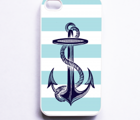 Nautical Stripe iphone 4 Case Nautical Anchor iPhone 4S