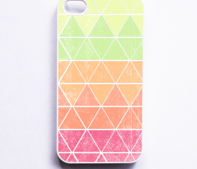 Geometric iphone 4 Case - Geometric in Melon iPhone 4S Case