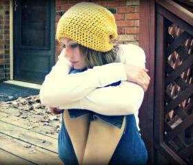 Slouchy Beanie Crochet Yellow