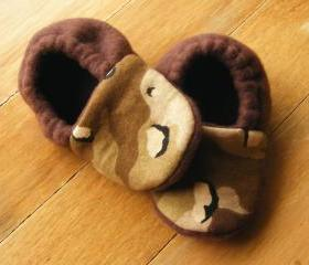 Camo Fleece Baby Booties