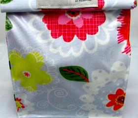 Oilcloth Lunch Bag - Pretty Flowers