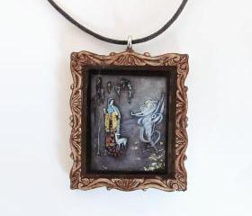 The White Fawn Fairy Tale Pendant and Cord Necklace